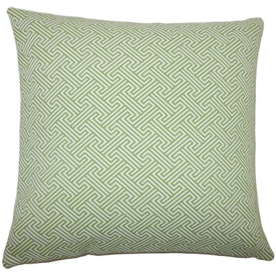 Reijo Geometric Throw Pillow Color: Kiwi, Size: 22 x 22