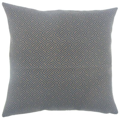Reijo Geometric Throw Pillow Size: 18 x 18, Color: Blue