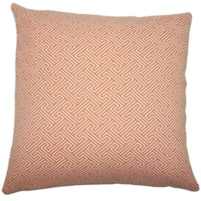 Reijo Geometric Throw Pillow Color: Orange, Size: 22 x 22
