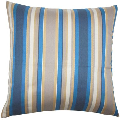 Tefo Striped Throw Pillow Size: 24 x 24, Color: Indigo