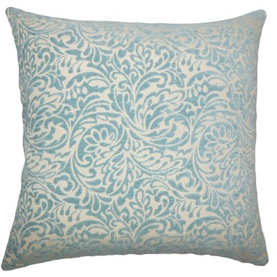 Taline Damask Throw Pillow Size: 18 x 18, Color: Turquoise
