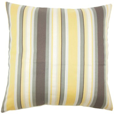Tefo Striped Throw Pillow Size: 22 x 22, Color: Plantain