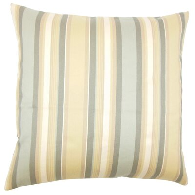 Tefo Striped Throw Pillow Size: 22 x 22, Color: Dune