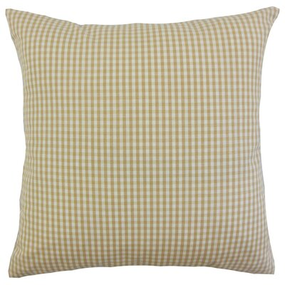 Keats Plaid Bedding Sham Size: Euro, Color: Honey