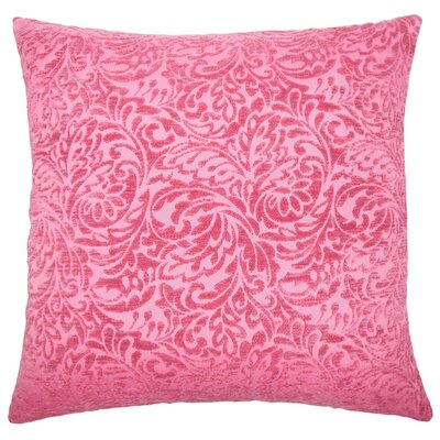 Taline Damask Throw Pillow Color: Azalea, Size: 24 x 24