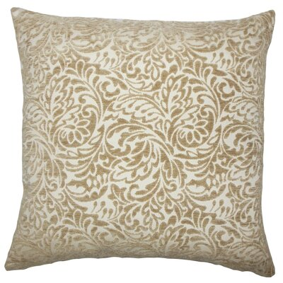 Taline Damask Throw Pillow Size: 24 x 24, Color: Toffee