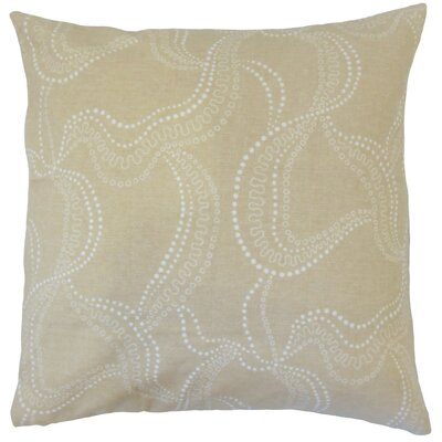 Afia Throw Pillow Color: Smoke, Size: 24 x 24