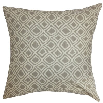 Cacia Geometric Bedding Sham Size: Euro, Color: Gray