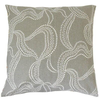 Afia Throw Pillow Color: Smoke, Size: 18 x 18