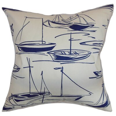 Gamboola Nautical Bedding Sham Size: Euro, Color: Navy