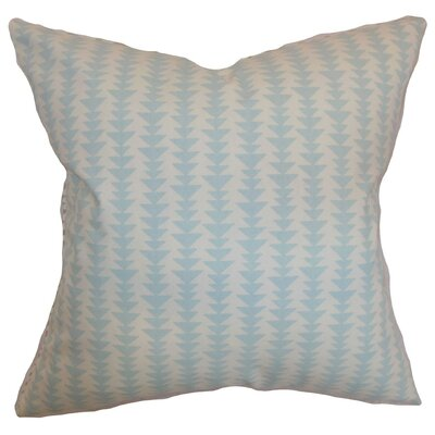 Jiri Geometric Bedding Sham Size: King, Color: Sky Blue