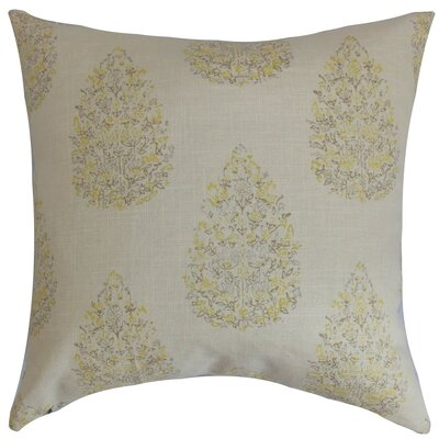 Faeyza Floral Bedding Sham Size: King, Color: Lemon Grass