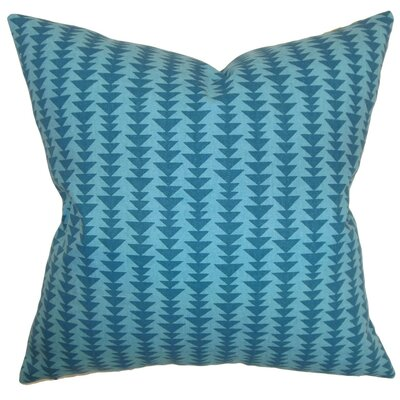 Jiri Geometric Bedding Sham Size: Queen, Color: Peacock