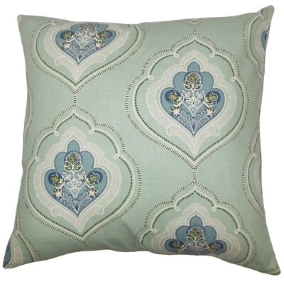 Beauford Floral Throw Pillow Color: Sea Green, Size: 24 x 24