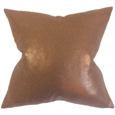 Berquist Throw Pillow Color: Amber, Size: 18 x 18