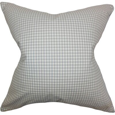 Xandy Plaid Cotton Throw Pillow Size: 18 x 18