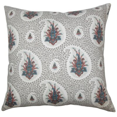 Zaci Floral Cotton Throw Pillow Color: Multi, Size: 22 x 22