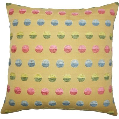 Vlora Polka Dots Throw Pillow Size: 22 x 22, Color: Gold