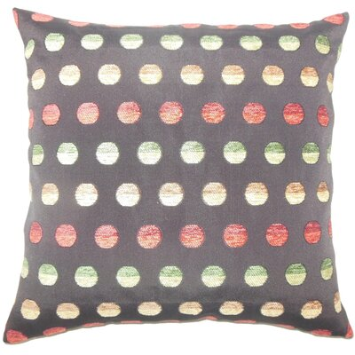 Vlora Polka Dots Throw Pillow Size: 22 x 22, Color: Multi
