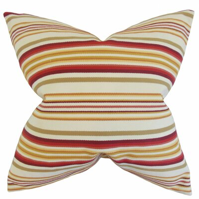 Magaidh Stripes Bedding Sham Size: Euro, Color: Gold/Red