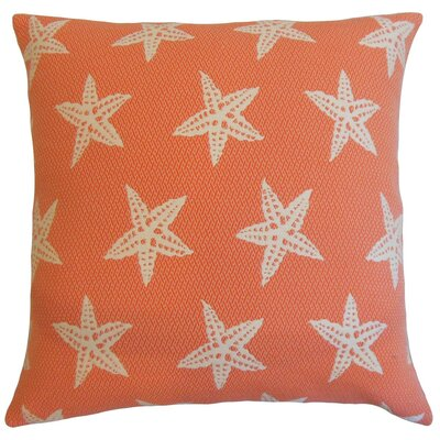 Macawi Outdoor Throw Pillow Color: Flame, Size: 18 x 18