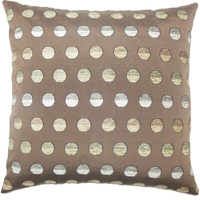 Vlora Polka Dots Throw Pillow Size: 18 x 18, Color: Thunder