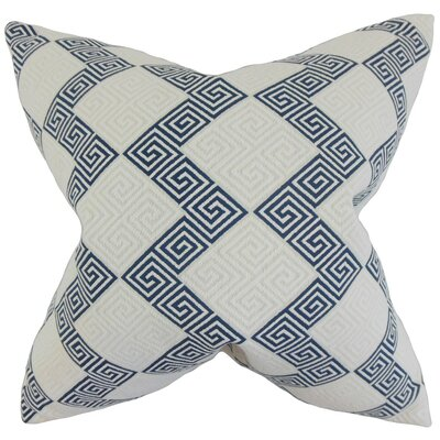 Sandrine Geometric Bedding Sham Size: King, Color: Indigo