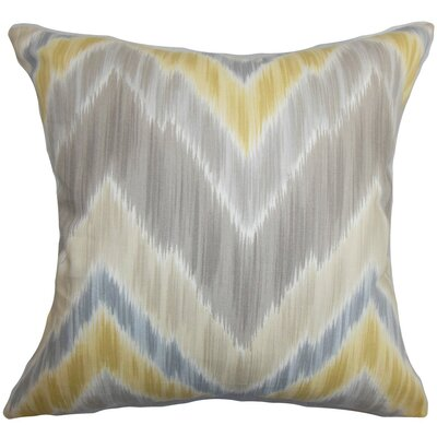 Caltha Zigzag Bedding Sham Size: King, Color: Gray