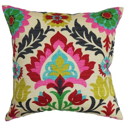 Brinkley Floral Cotton Throw Pillow Size: 24 x 24