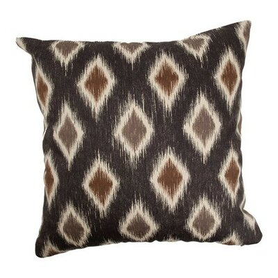 Faela Geometric Bedding Sham Size: Euro, Color: Black/Brown