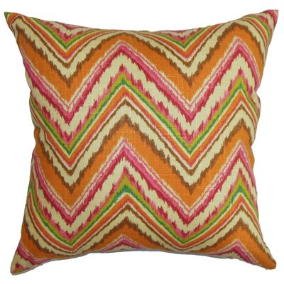 Dayana Zigzag Bedding Sham Size: King, Color: Orange/Pink