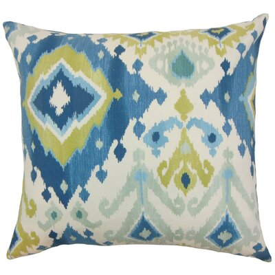 Gannet Cotton Throw Pillow Color: Aegean, Size: 22 x 22