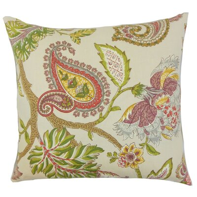Julitte Floral Linen Throw Pillow Size: 18 x 18