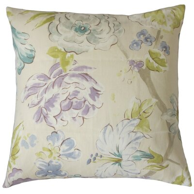 Niao Linen Throw Pillow Color: Flamingo, Size: 18 x 18