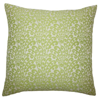 Ilkay Floral Throw Pillow Size: 24 x 24, Color: Green