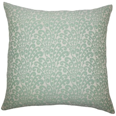 Ilkay Floral Throw Pillow Color: Aqua, Size: 24 x 24