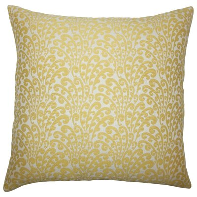 Ilkay Floral Throw Pillow Color: Buttercup, Size: 22 x 22