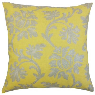 Patrice Linen Throw Pillow Color: Canary, Size: 18 x 18