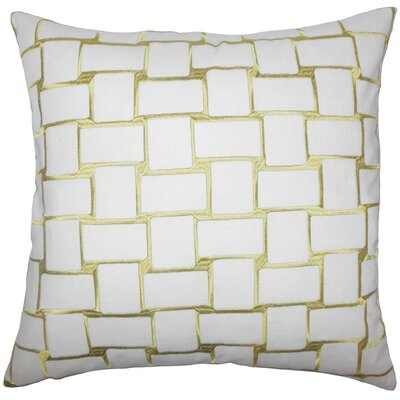 Kalyca Geometric Throw Pillow Size: 18 x 18, Color: Peridot