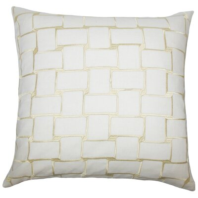 Kalyca Geometric Throw Pillow Size: 22 x 22, Color: Buff