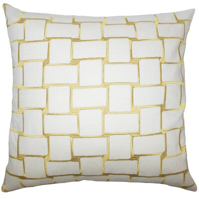 Kalyca Geometric Throw Pillow Color: Yellow, Size: 22 x 22