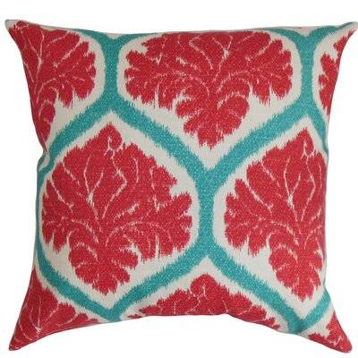 Priya Cotton Throw Pillow Color: Poppy Red, Size: 24 x 24