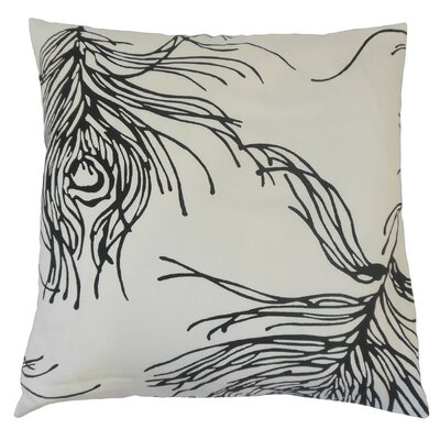Neorah Graphic Cotton Throw Pillow Size: 18