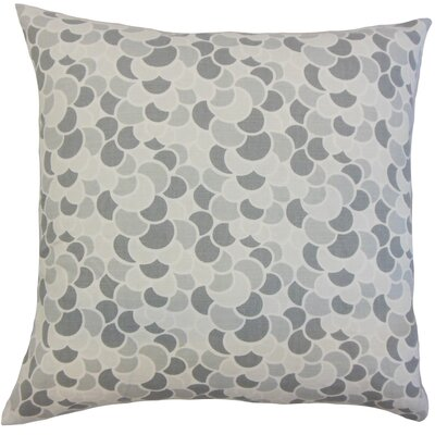 Lily Throw Pillow Color: Pewter, Size: 18 x 18