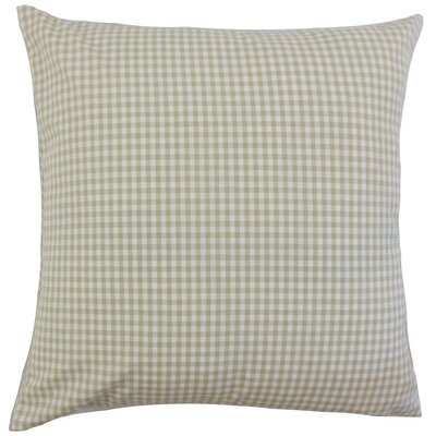 Keats Plaid Bedding Sham Size: Euro, Color: Beige