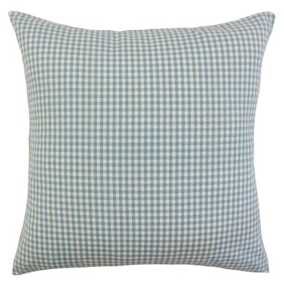 Keats Plaid Bedding Sham Size: Euro, Color: Aqua
