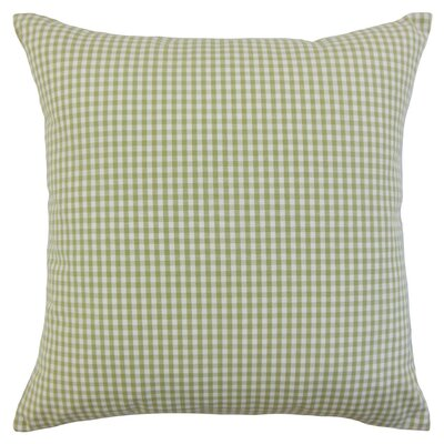 Keats Plaid Bedding Sham Size: King, Color: Sage