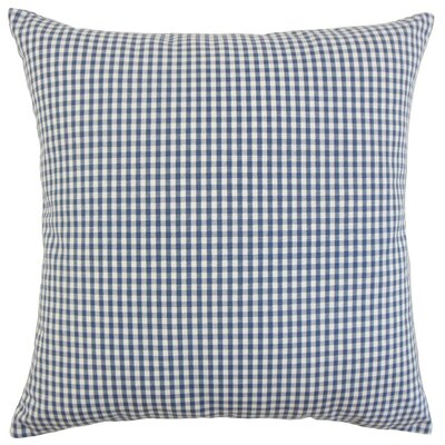 Keats Plaid Bedding Sham Size: Euro, Color: Navy