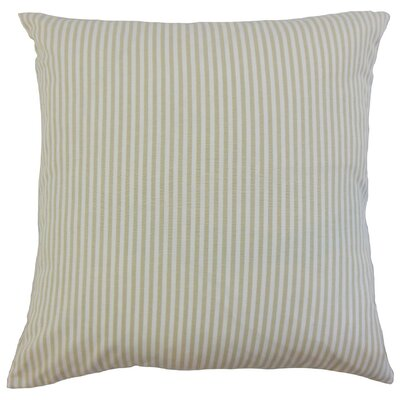 Melinda Stripes Bedding Sham Size: Euro, Color: Beige