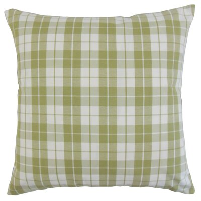Joan Plaid Bedding Sham Size: King, Color: Sage